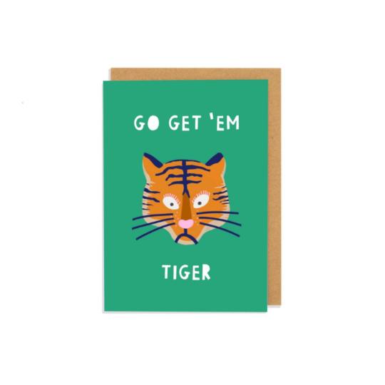 Go Get 'em Tiger Greetings Card