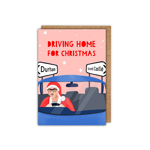 Driving home for Christmas A6 Dominic Cummings Christmas Card