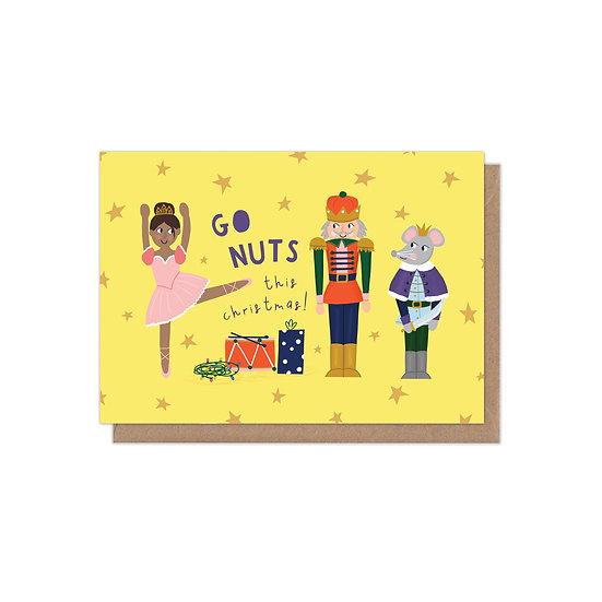 Go Nuts This Christmas A6 Christmas Card