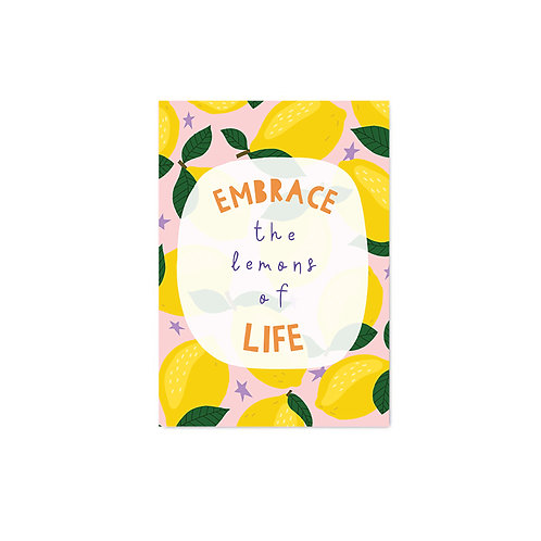 Embrace the Lemons of Life A6 Postcard