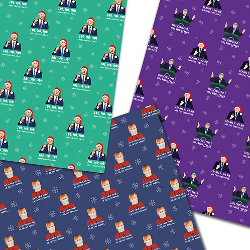 3 Pack USA Celebrity Politician Wrapping Paper sheets 50x70cm