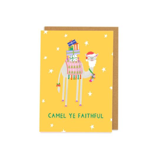 Camel Ye Faithful Greetings Card