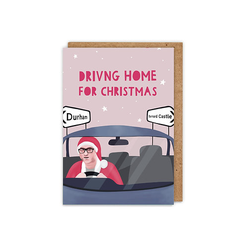 6 pack- Driving home for Christmas, Cummings Christmas Cards