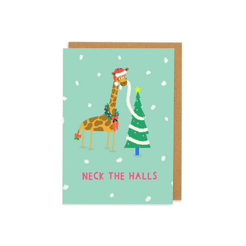 Neck The Halls Greetings Card