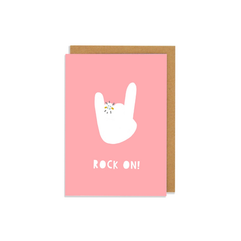 Rock On Greetings Card