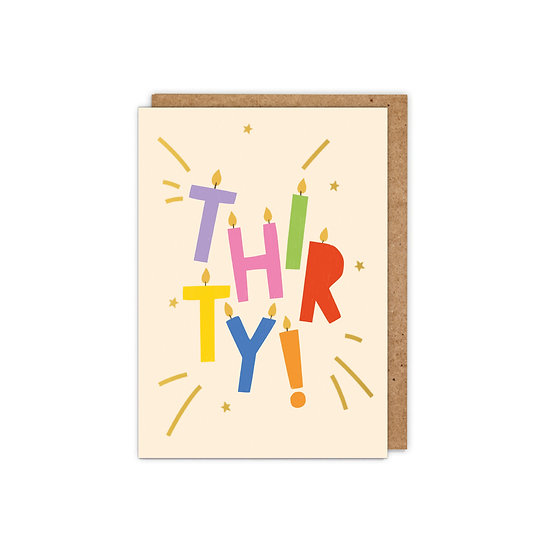 GOLD FOILED 'THIRTY!' Letter candles