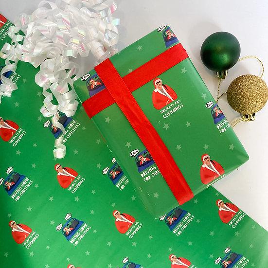 Dominic Cummings COVID Christmas Wrap Sheet 50x70cm