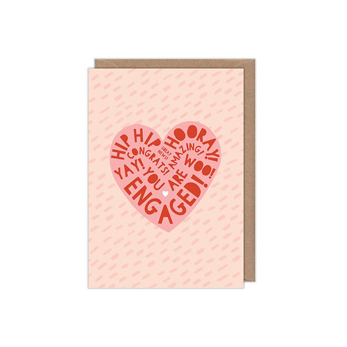 6 pack- Heart Type Engagement Card