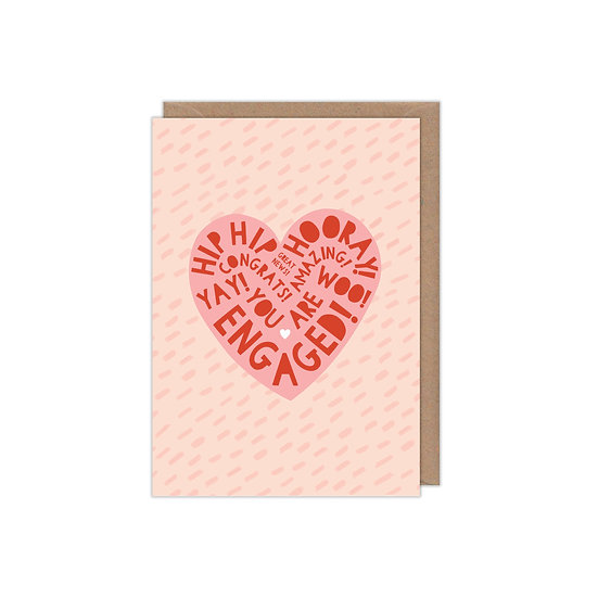 Heart Type Engagement Card