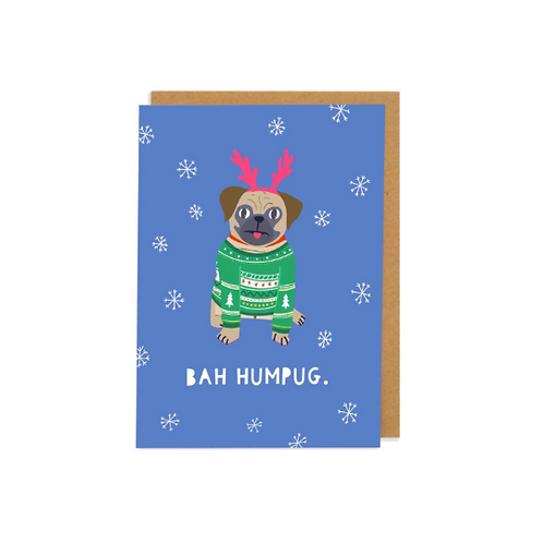 6 pack- Bah Humpug Greetings Card