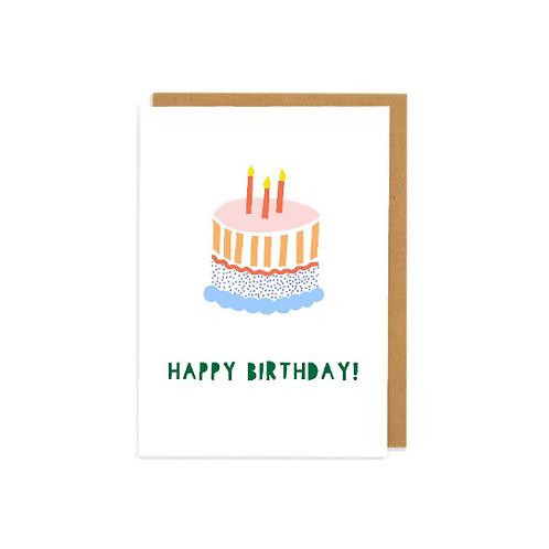 Happy Birthday Cake Greetings Card