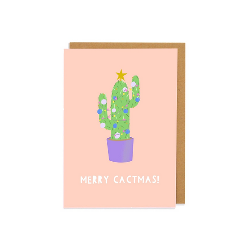 6 pack- Merry Cactmas Greetings Card
