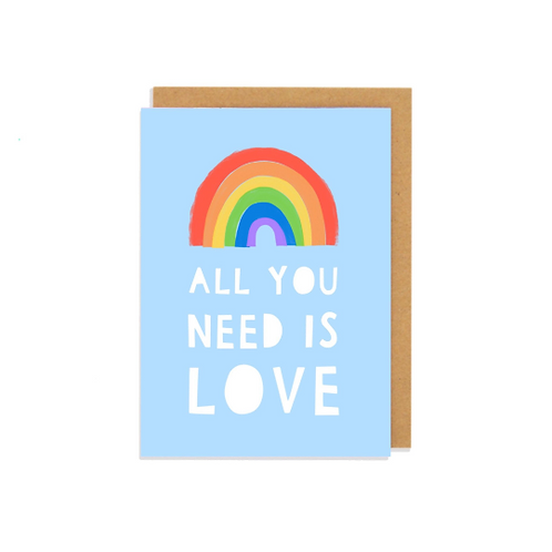 6 pack- All You Need Is Love Greetings Card