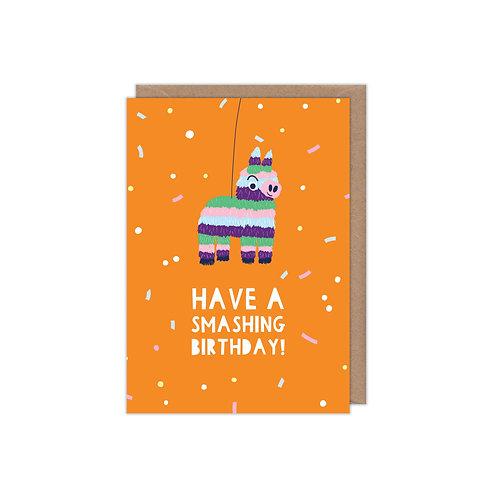 6 pack- Have a Smashing Birthday Pinata Greetings Card