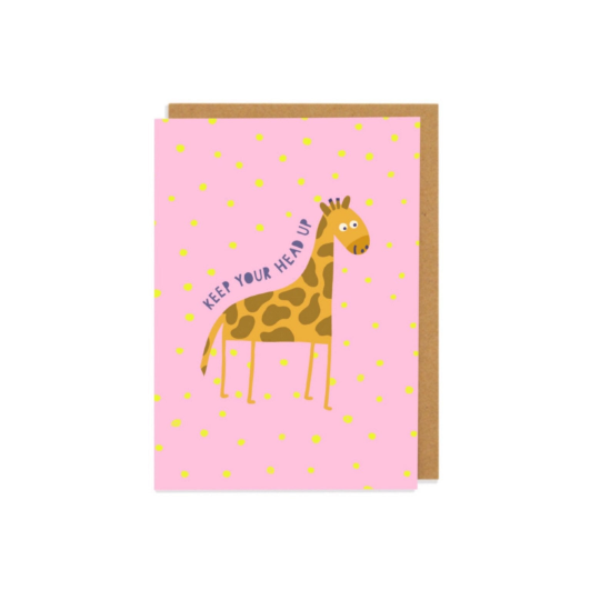 Keep Your Head Up Greetings Card