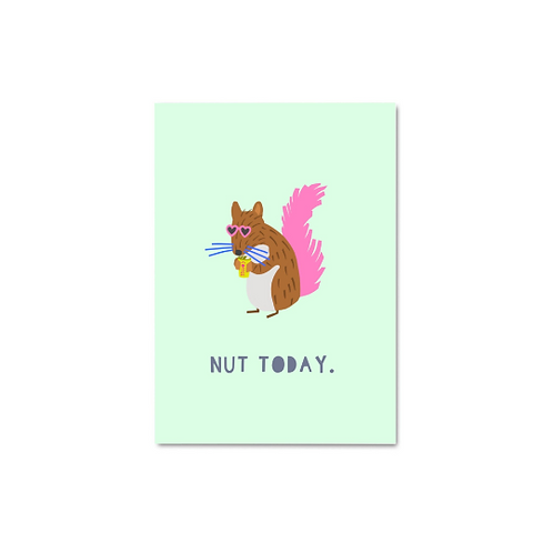 Nut Today Postcard