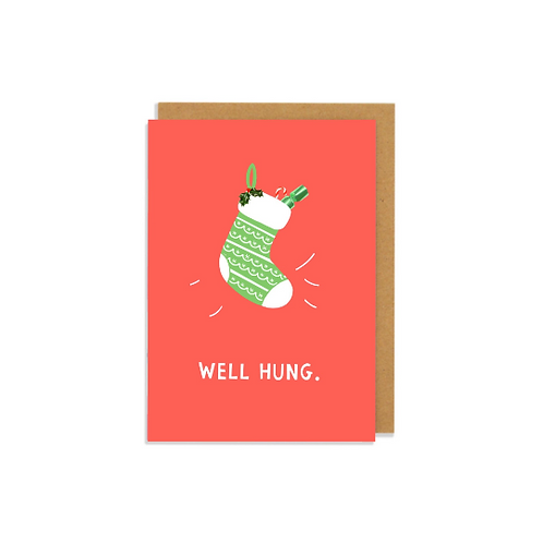 6 pack- Well Hung Christmas Card