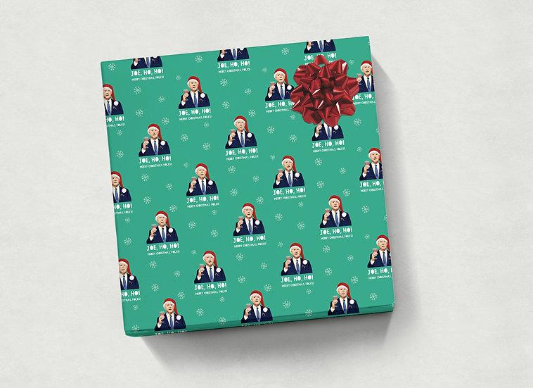 Joe Biden Christmas Wrapping Sheet 50x70cm