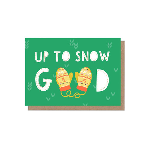 6 pack- Up to Snow Good Christmas Card