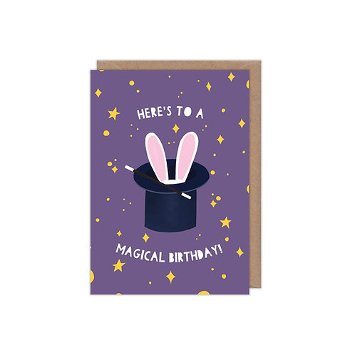 6 pack- Here's to a Magical Birthday Greetings Card