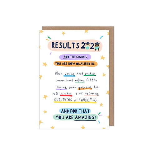 Exam Results 2020: Surviving a Pandemic Greetings Card