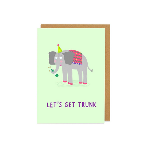 Lets Get Trunk Greetings Card