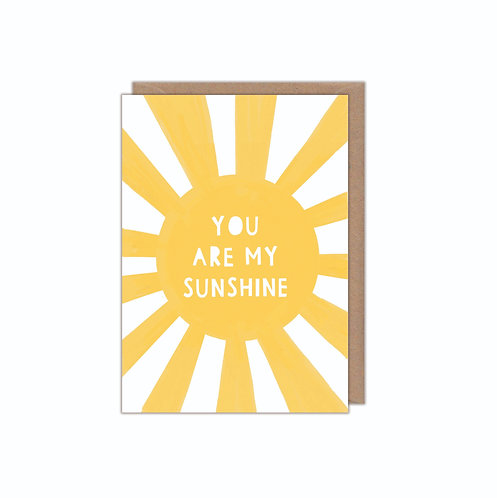 6 pack- You Are My Sunshine Greetings Card