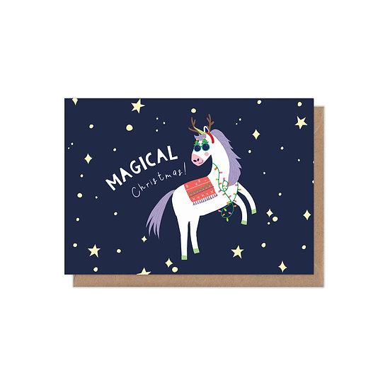 Magical Christmas Unicorn Christmas Card
