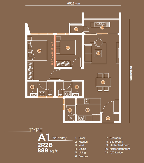 A1 2B2B Balcony - 889 sqft.png