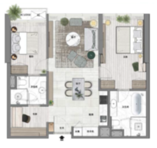 B3 - 2+1Br, 925sf, 86sm.png