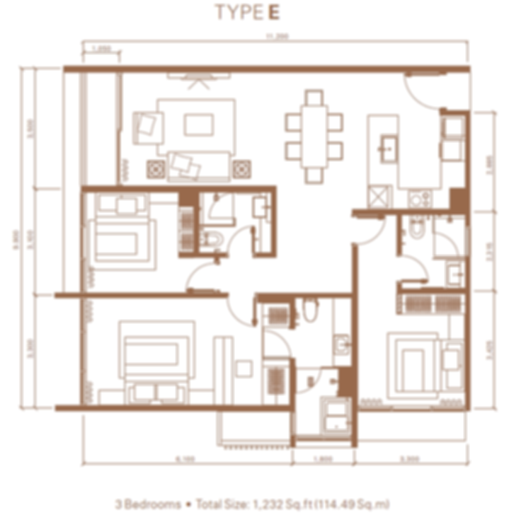 Type E 3br, 1,232 sf.png