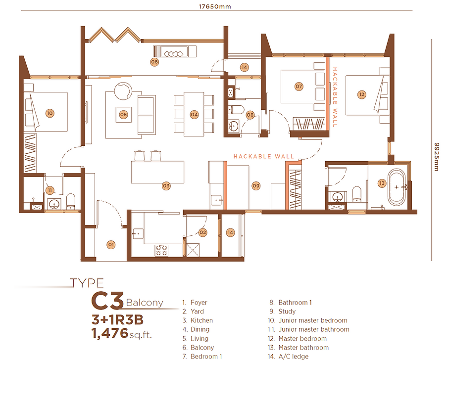 C3 3+1B3B Balcony 1,476 sqft.png