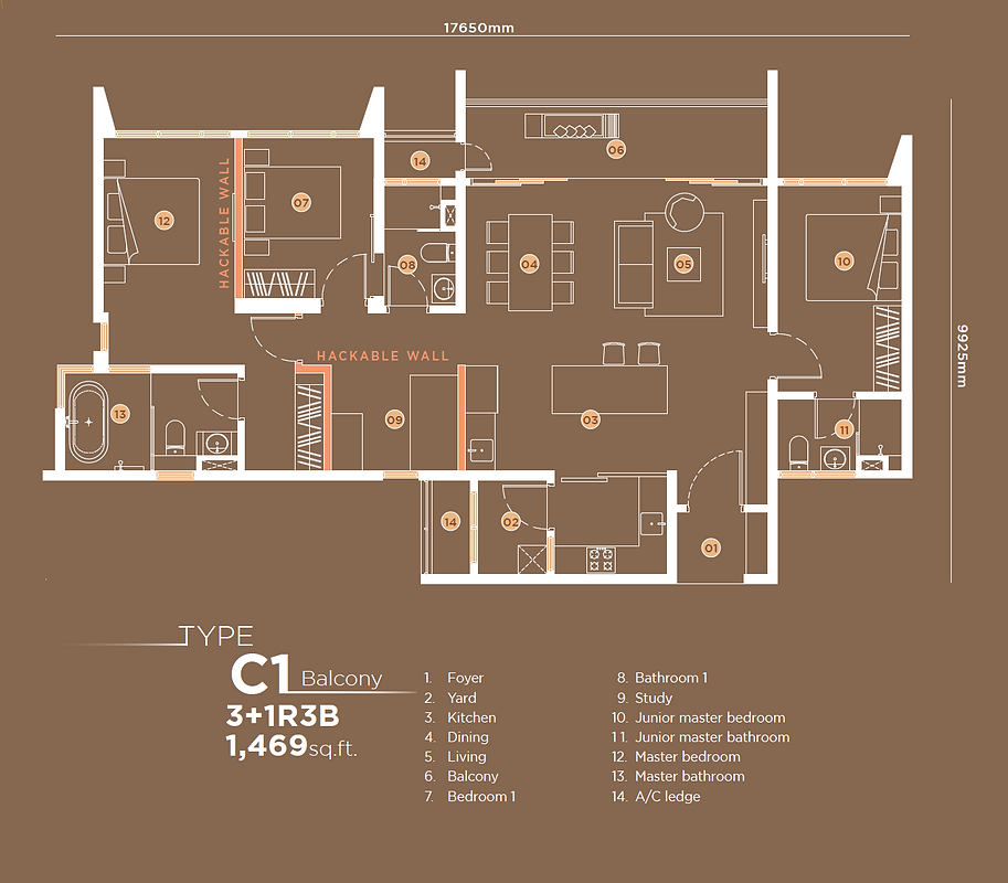 C1 3+1B3B Balcony 1,469 sqft.png