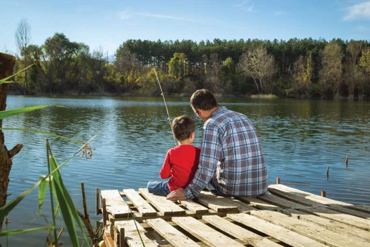 Fishing by the Pond