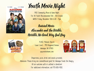 Youth Movie Night - November 13th
