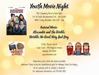 Youth Movie Night - November 13th