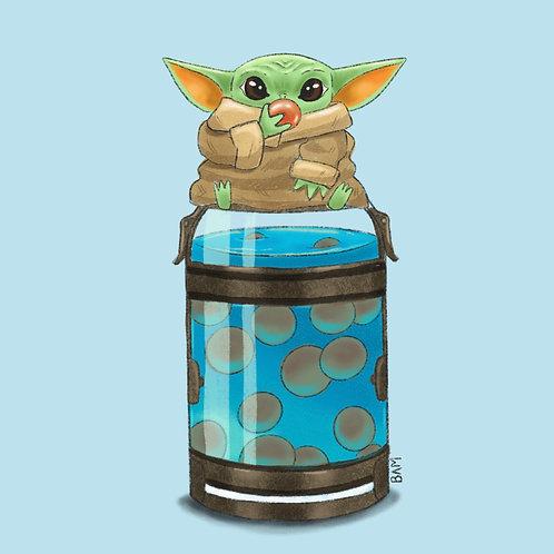 Baby Yoda Brat Print