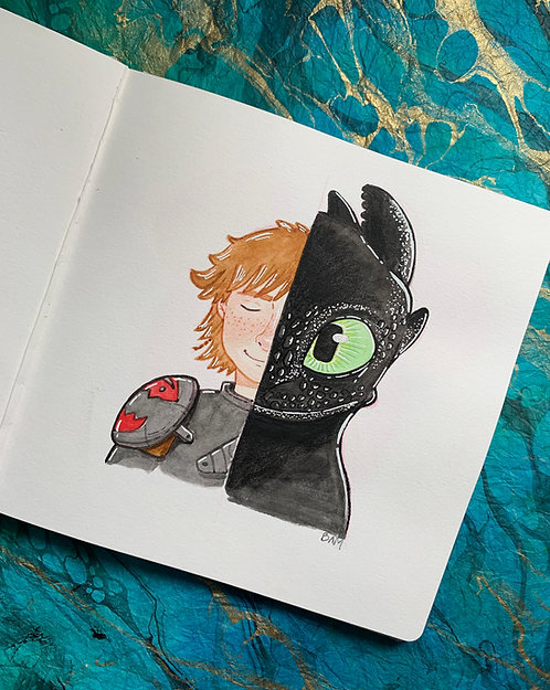 Hiccup + Toothless Original