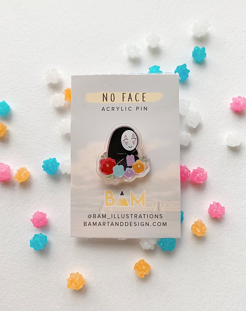 No Face Pin