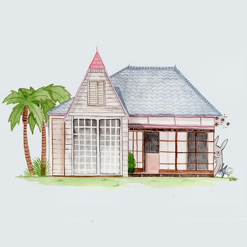 Totoro House Print
