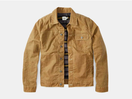 This Waxed Canvas Trucker Jacket is Perfect for Spring