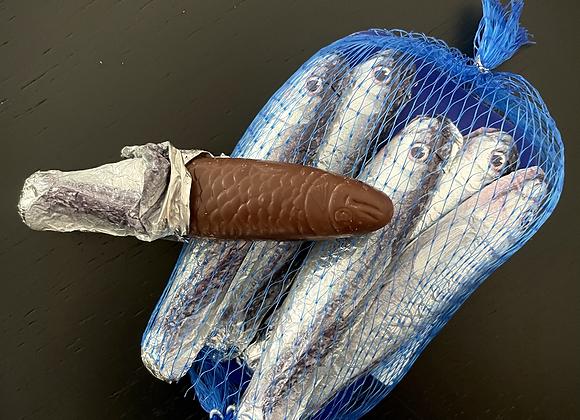 Milk Chocolate  39%   Sardines in Net