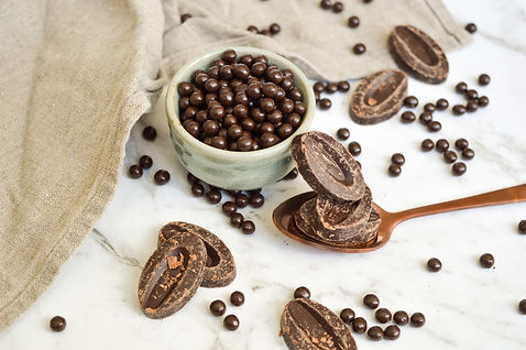 Valrhona Guanaja 70% Dark Chocolate | Valrhona Crunchy Pearls 55%