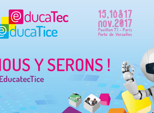 Educatice J-30 : retenez la date, Naotic sera présent !