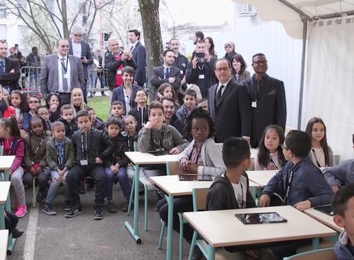 Vaulx en Velin : le projet d'école du futur présenté au président de la république.