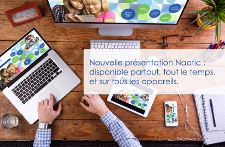 Naotic inaugure une nouvelle présentation interactive réalisée avec Prezi Next!