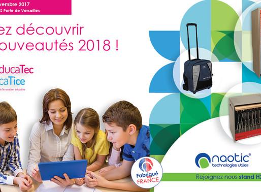 Educatice J-7 : rejoignez Naotic stand H28 et découvrez les nouveautés 2018 !