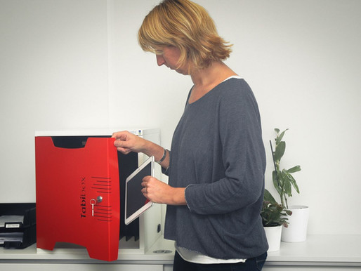 Naotic innove : Découvrez une nouvelle façon de charger, stocker et sécuriser vos tablettes.