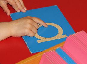 Montessori Sandpaper Letter