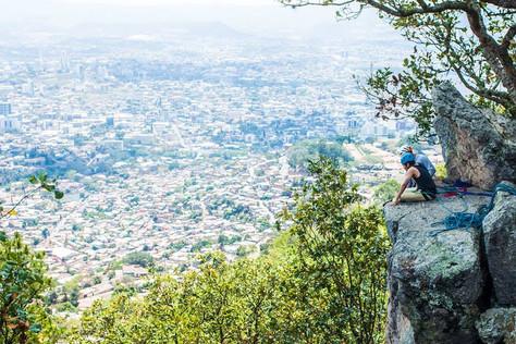 Escalando en el Picacho